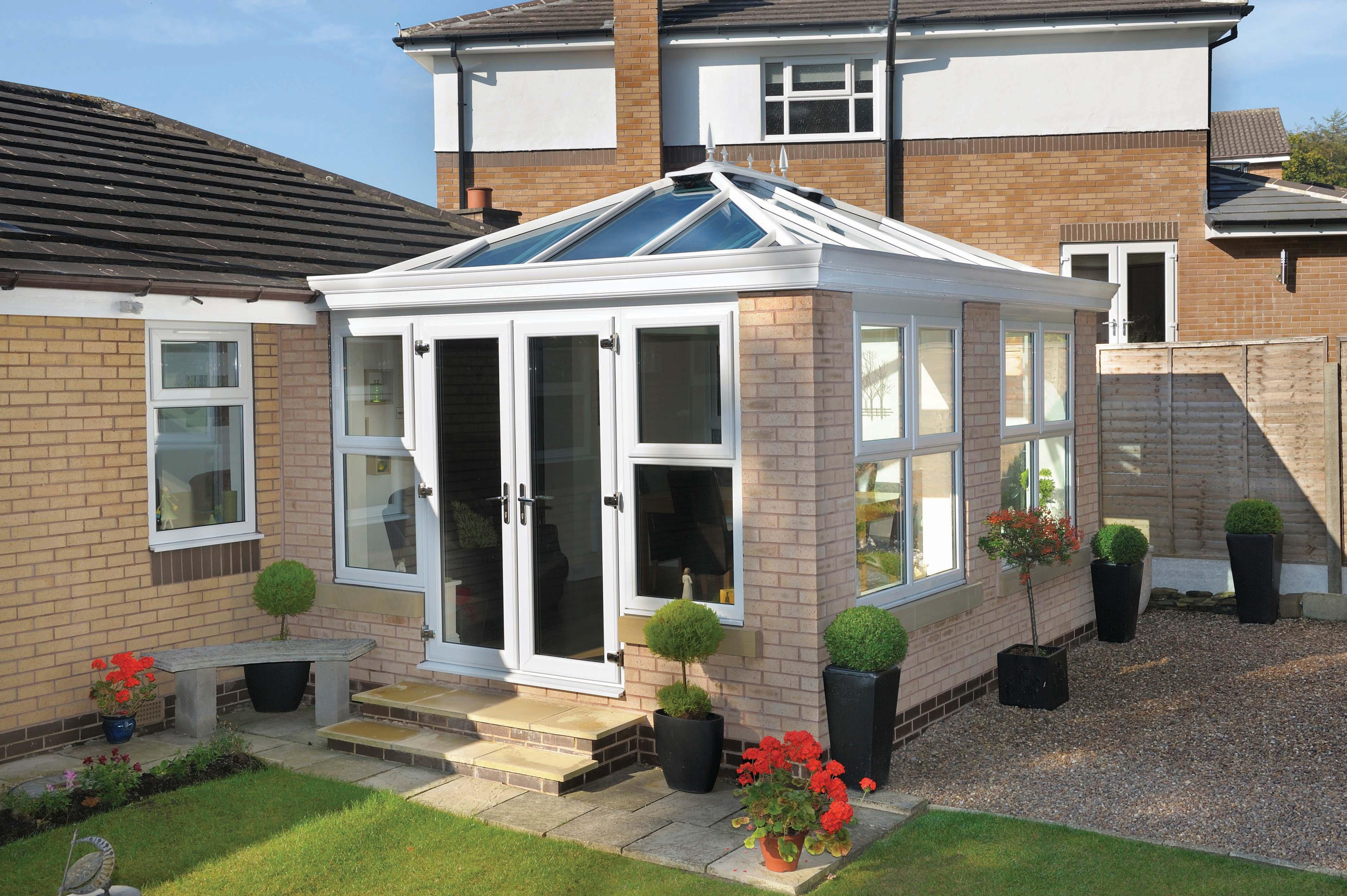 External White Glass Roof 2